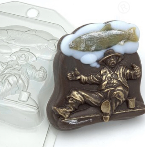 Пластиковая форма для шоколада муж. РЫБАК