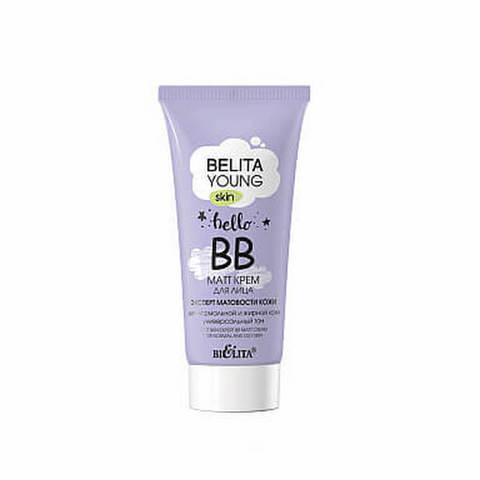 ВВ-matt крем для лица «Эксперт матовости кожи» для нормальной и жирной кожи , 30 мл ( Belita Young Skin )
