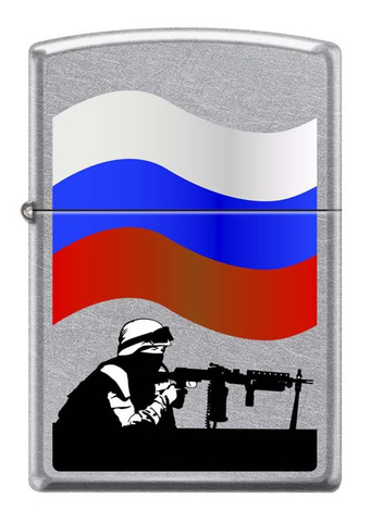 Зажигалка Zippo Защитник Отечества, латунь/сталь с покрытием Street Chrome™, серебристая, 36x12x56мм123