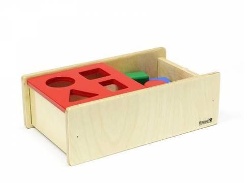 Коробочка с геометрическими телами (4 шт.) и перекидной крышкой