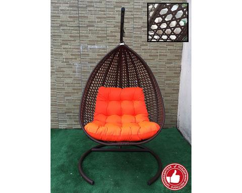 Подвесное кресло Сакала Cross коричневое