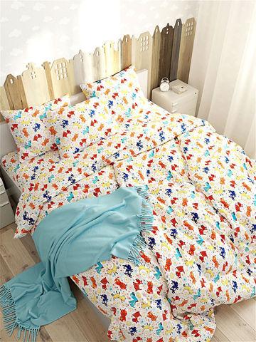 Простынь на резинке  -Собачки- натяжная 160х200х26 см 2-спальная