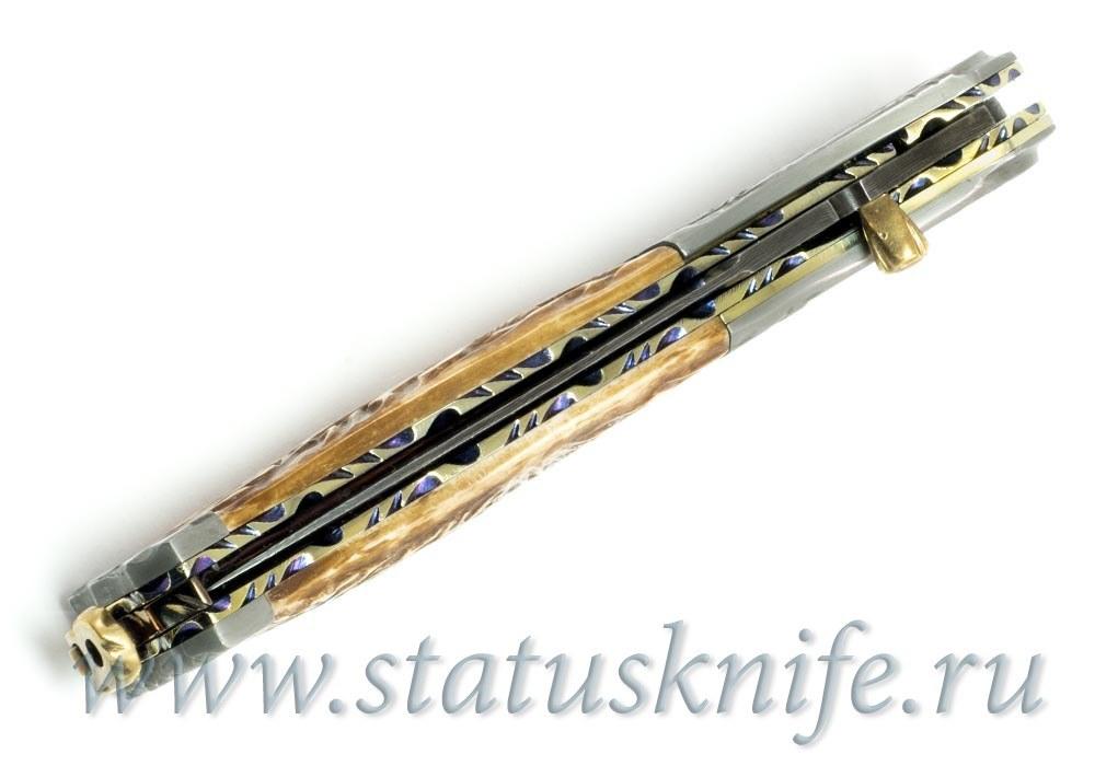Нож Carved Damascus Folder Suchat Jangtanong - фотография