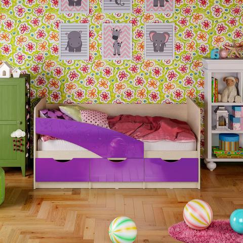 Кровать Бабочки фиолетовый