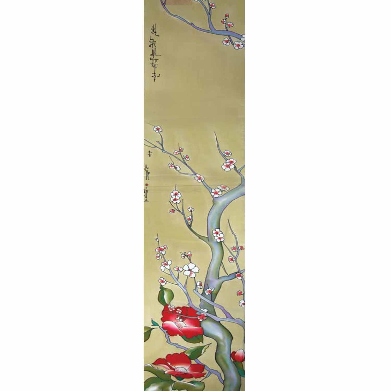 Шелковый шарф ручной росписи батик Сакура