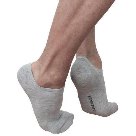 Мужские носки ультра короткие серые Romeo Rossi Grey RR00709