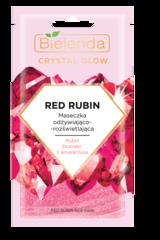 CRYSTAL GLOW RED RUBIN маска для лица питательная с осветляющим эффектом 8мл