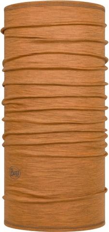Тонкий шерстяной шарф-труба Buff Wool lightweight Solid Mustard фото 1