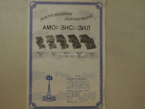 Catalogue LOMO-AVM 1:43 1995