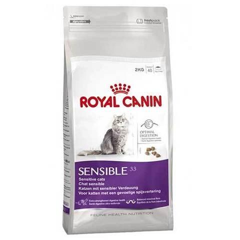 15кг. ROYAL CANIN Сухой корм для взрослых кошек с чувствительной пищеварительной системой Sensible 33