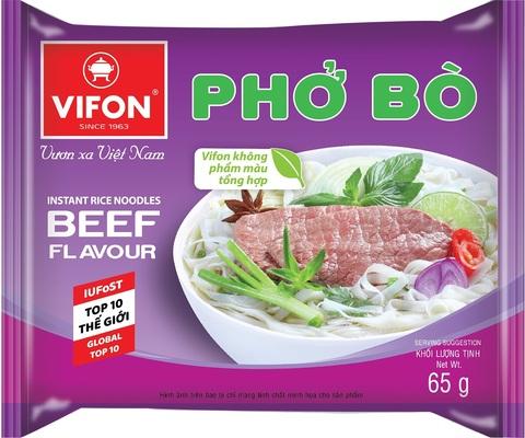 Вьетнамская рисовая лапша-суп Фо Бо, Vifon, вкус говядины, 65 гр.