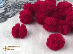 Помпоны из фатина красные 23 мм