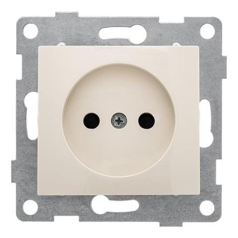 Розетка электрическая 2К без заземления с защитными шторками, 16 А 220/250 В~. Цвет Бежевый. Bravo GUSI Electric. С10Р2-003