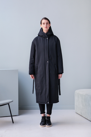 Пальто Buttermilk Garments — Oversized Long Jacket черное