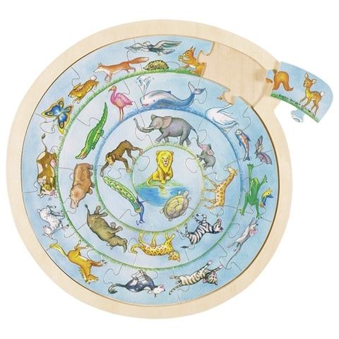 Пазл животный круг
