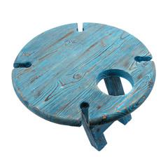 Складной столик для вина из дерева, темно-синий, фото 3