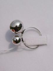 2 шарика (кольцо из серебра)
