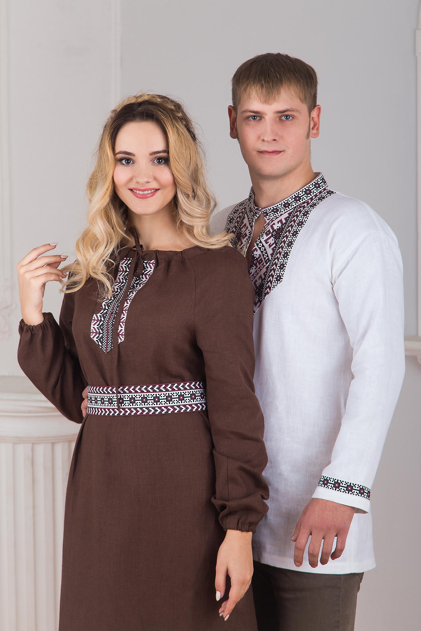 Платье льняное Новгородское с Боевой