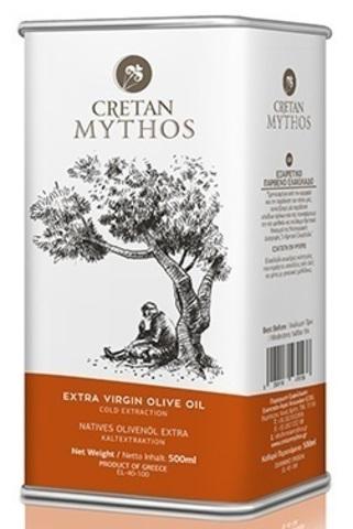 Оливковое масло Cretan Mythos Extra Virgin с острова Крит 500 мл жесть