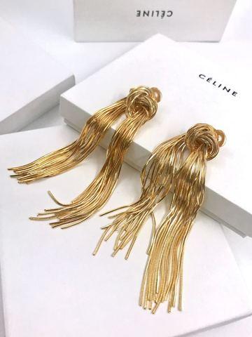 201222 -Серьги длинные из цепочек завязанных в узел, lux