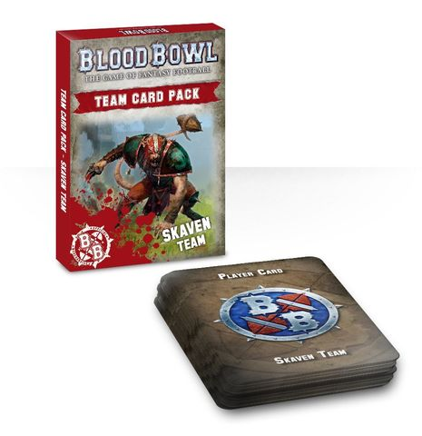 BLOOD BOWL: SKAVEN TEAM CARDS