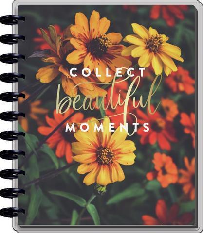 Ежедневник BIG - Big Horizontal Happy Planner - Moody Florals  - Датирован с июля 2021 по декабрь 2022 - 23х28.5см