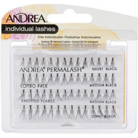 Пучки для наращивания ресниц  узелковые, длинные Andrea, combo
