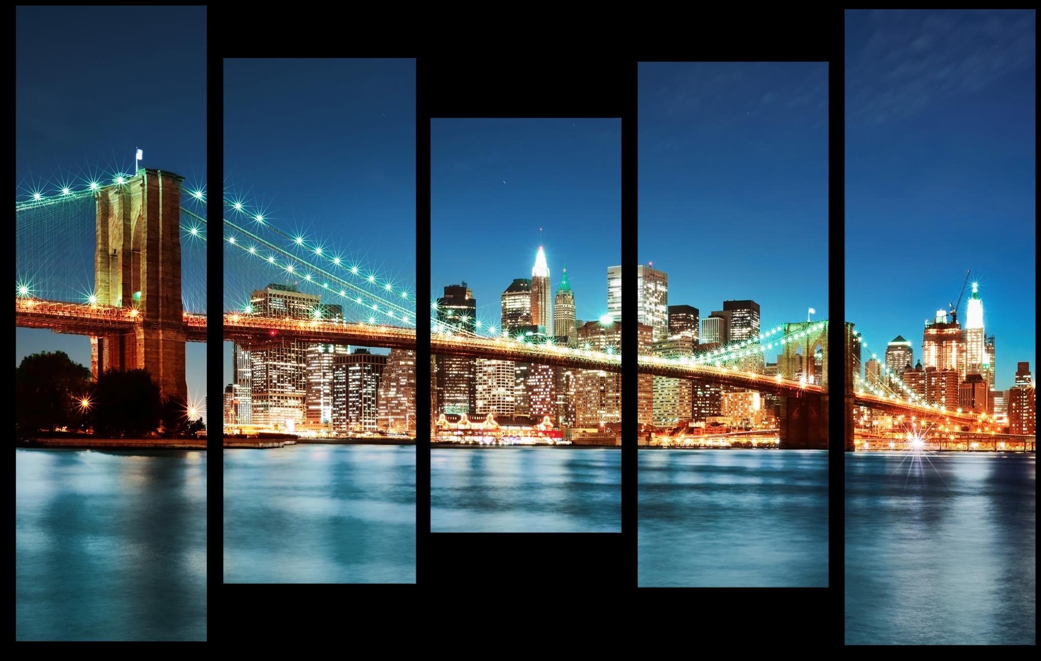 """Модульные картины Модульная картина """"Бруклинский мост"""" М84.png"""