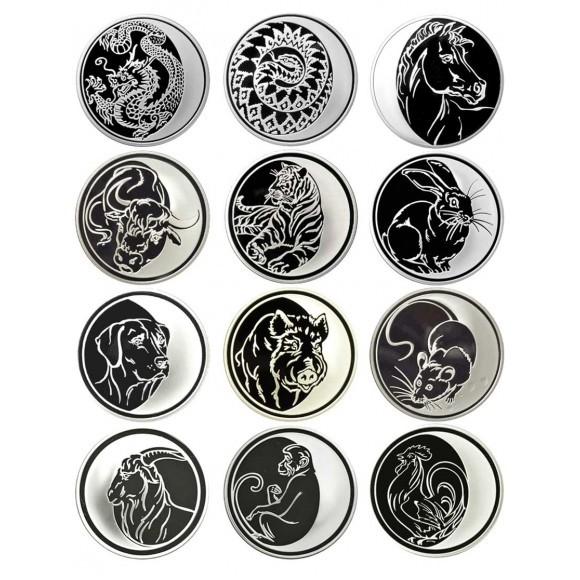 Набор 12 монет Лунный календарь 3 рубля 2003-2014г. PROOF