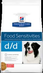 Ветеринарный корм для собак с пищевыми аллергиями, Hill`s Prescription Diet d/d Food Sensitivities, с лососем и рисом