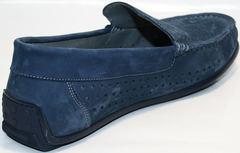 Мужские мокасины из натуральной кожи IKOC 1352-2 Blue.
