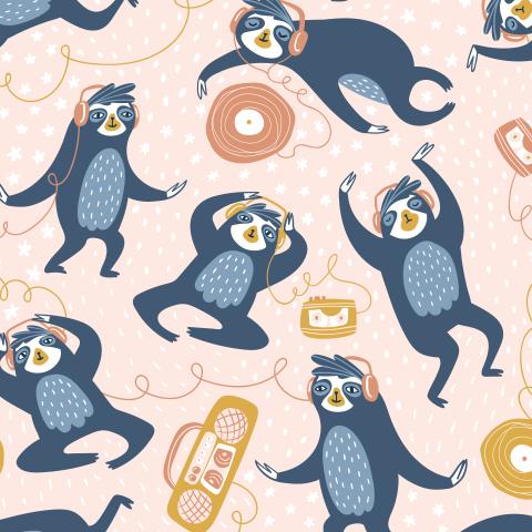 Ленивцы и музыка