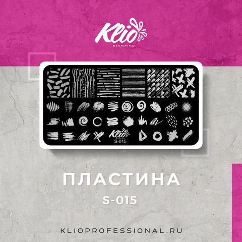 ПЛАСТИНА ДЛЯ СТЕМПИНГА KLIO PROFESSIONAL S-015