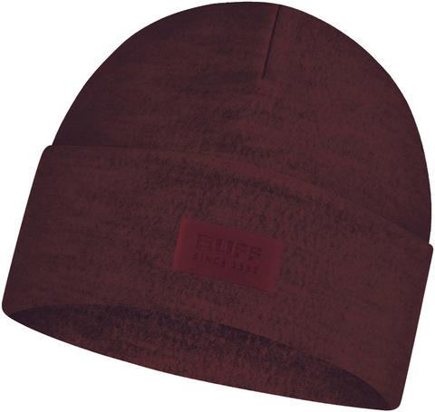 Шерстяная шапка с флисом Buff Hat Wool Fleece Maroon фото 1
