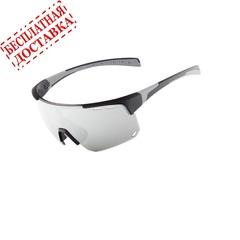 Очки солнцезащитные XQ546, (черный матовый / зеркальные revo) +3 доп. линзы