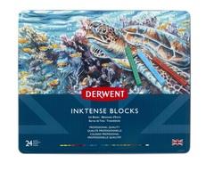 Набор из 24 акварельных блоков Derwent Inktense