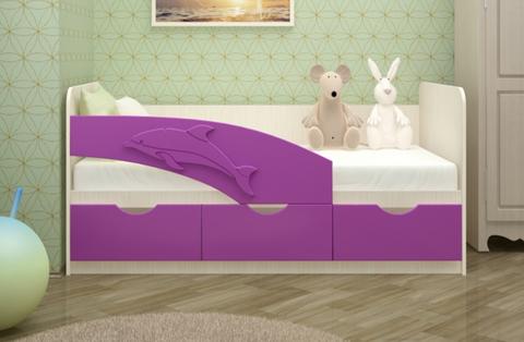 Кровать Дельфин сиреневый мат.