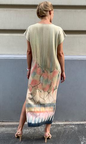 Платье из дикого шелка Отражение
