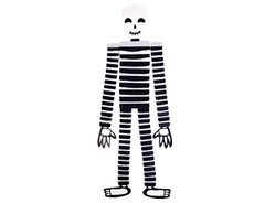 Фигура бумажная, Скелет, Арестант, 112 см, 1 шт.