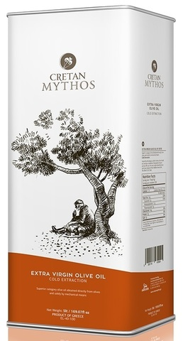 Оливковое масло Cretan Mythos Extra Virgin с острова Крит 5 л жесть