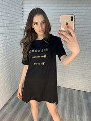 свободное черное платье nadya