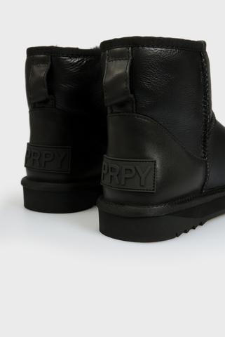 Мужские черные кожаные угги PRPY
