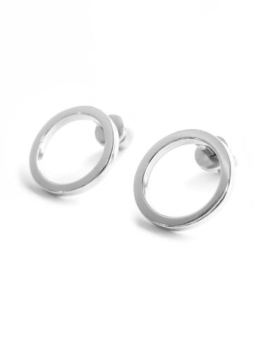 Серебряные серьги пусеты круги