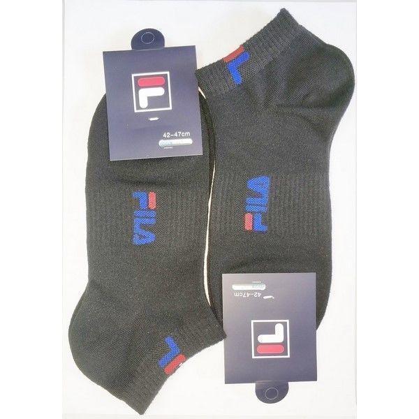 Мужские носки FILA черные 2 шт.