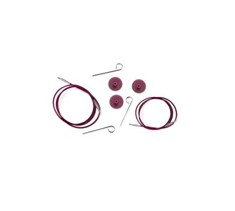 Тросик (заглушки 2шт, кабельный ключик) для съемных спиц, длина 35 (60)см, KnitPro, 10501