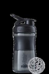 Шейкер-фляга Blender Bottle SportMixer 591мл Black/black