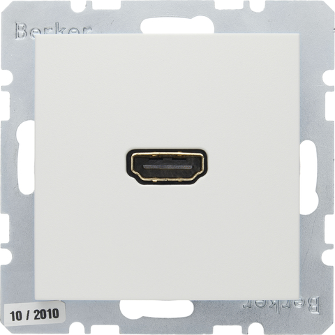 Розетка HDMI. Цвет Полярная белизна. Berker (Беркер). S.1 / B.3 / B.7. 3315421909