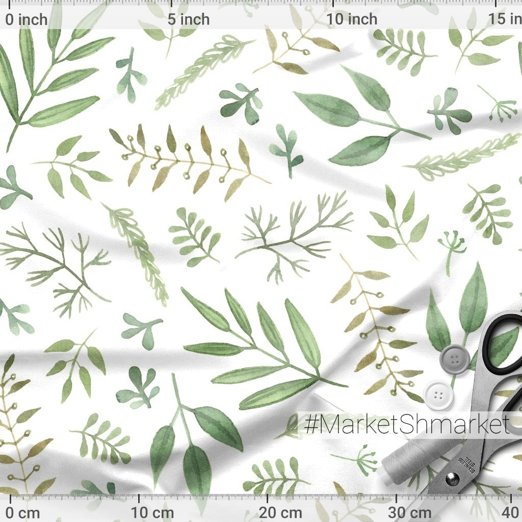 Green branches and leaves. Зеленые ветви и листья