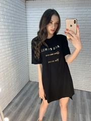 свободное черное платье купить