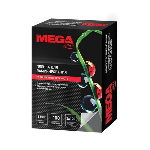 Пленка для ламинирования Promega office 65x95 мм 100 мкм глянцевая (100 штук в упаковке)